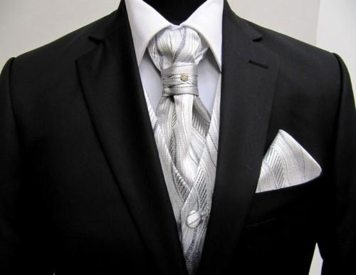 Cravata Plastron