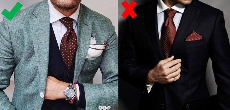 cravată asortată și batista costum